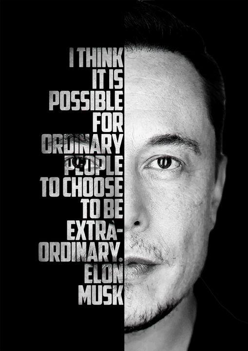 Elon Musk inspirational quote. - Enea Kelo