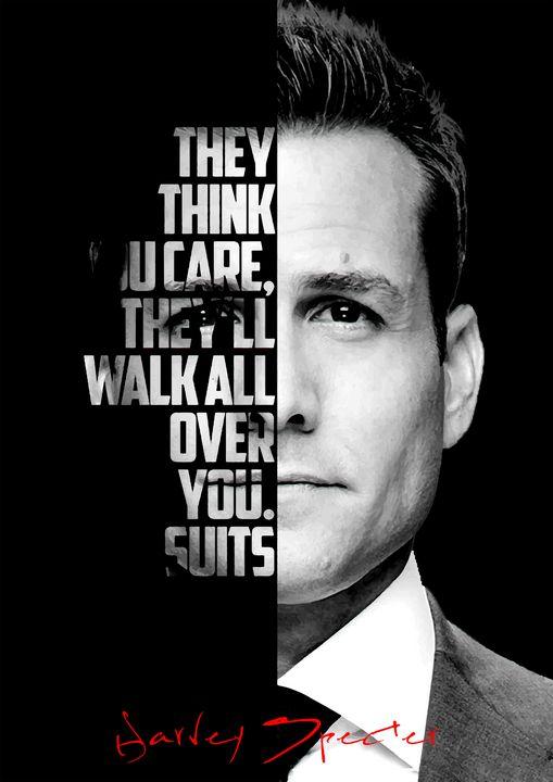 Harvey Specter Quote Poster - Enea Kelo