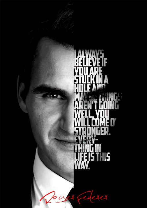 Roger Federer quote poster - Enea Kelo