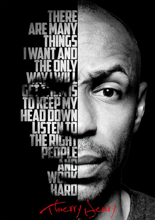 Black and white Thierry Henry quote - Enea Kelo