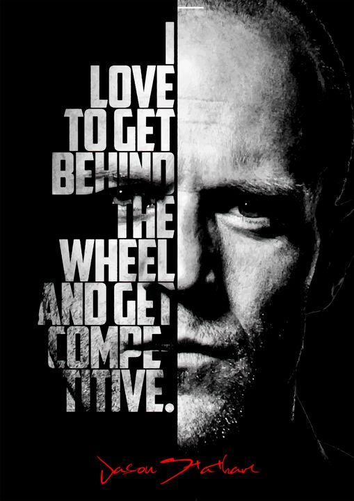 Jason Statham quote poster - Enea Kelo