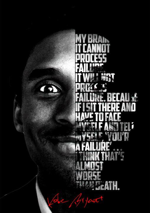 Kobe Bryant quote poster - Enea Kelo