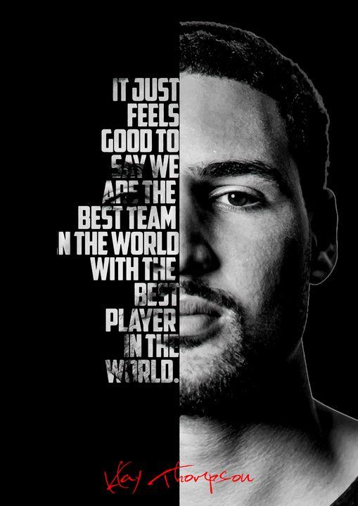 Klay Thompson quote poster. - Enea Kelo