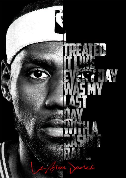 Black and white LeBron James quote. - Enea Kelo
