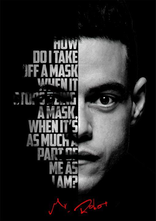 Mr Robot quote poster - Enea Kelo