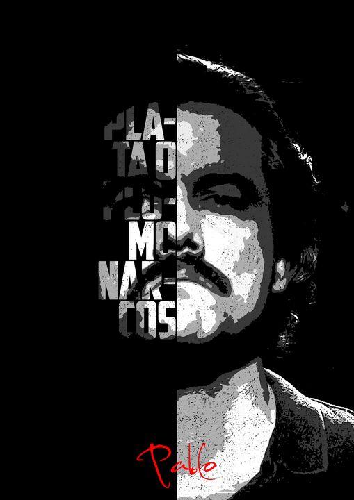 Black and white Pablo quote poster. - Enea Kelo