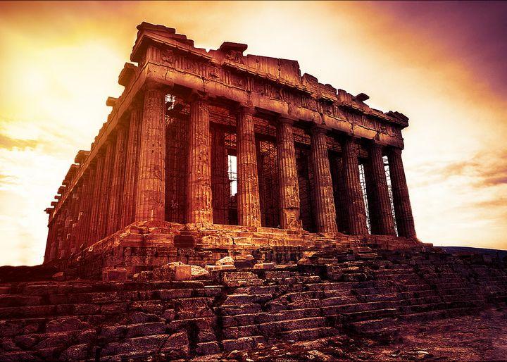 Painting of Acropolis, Athens Greece - Enea Kelo