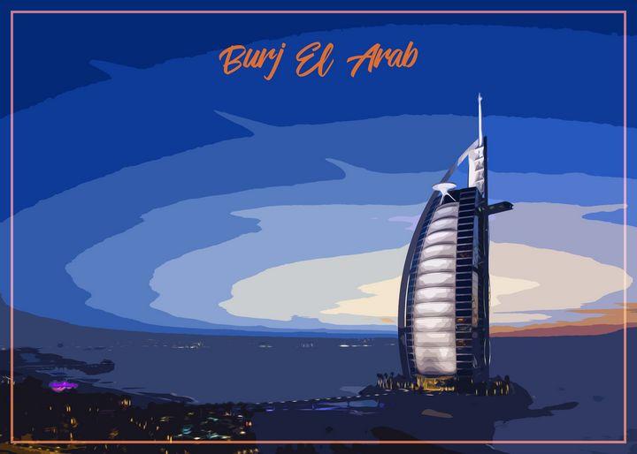 Dubai Painting - Enea Kelo