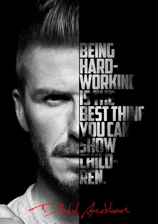 David Beckham quote poster - Enea Kelo