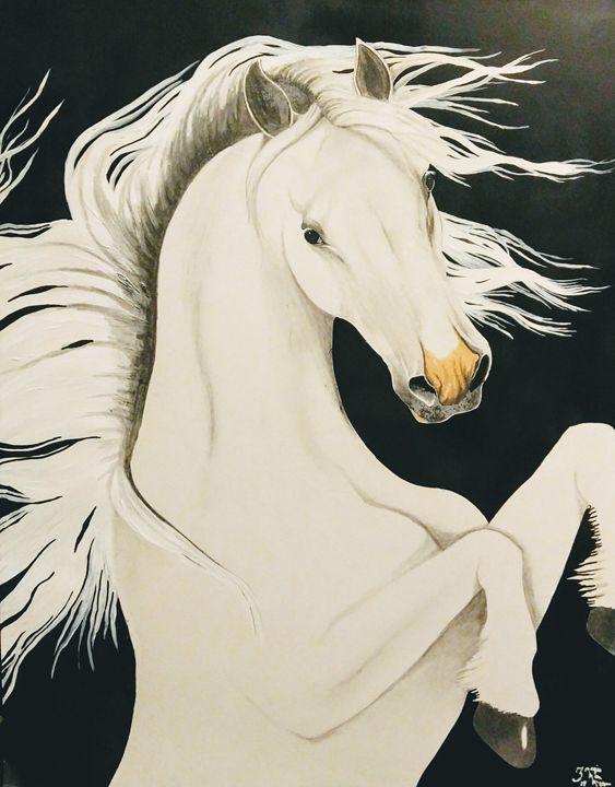 White horse - Magic Man McGann