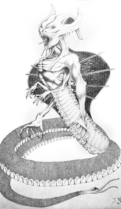 Snake Creature - Magic Man McGann
