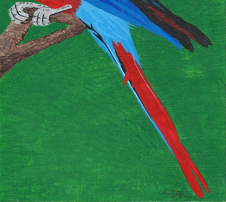 Parrot-bottom half - Magic Man McGann