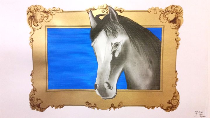 3-D Horse and Frame - Magic Man McGann