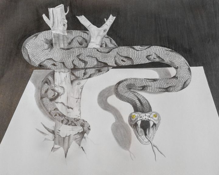 3D Poison Snake - Magic Man McGann