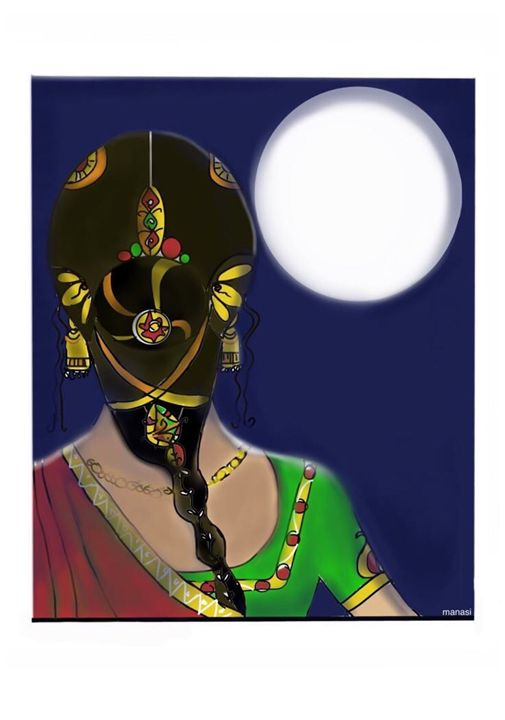 Gazing at the Moon - Manasi's Space