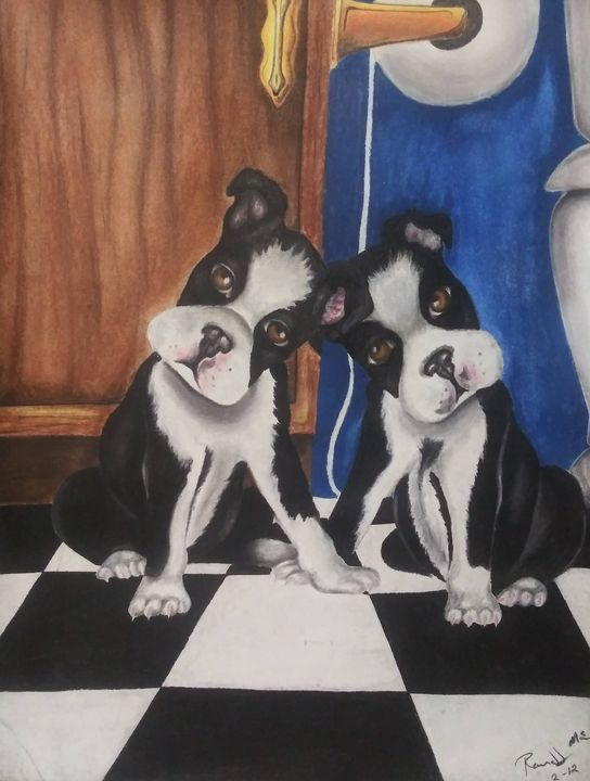 Trouble Puppies - McClellan Free Inside Art
