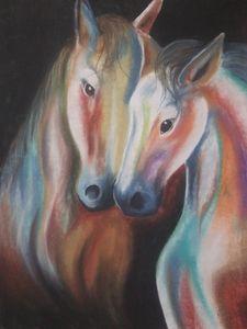 Pastel Horses - McClellan Free Inside Art