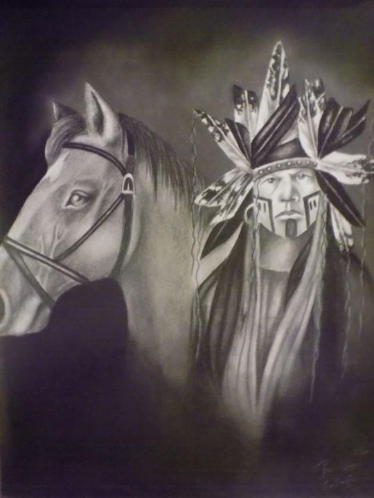 Portrait with Horse 2 - McClellan Free Inside Art