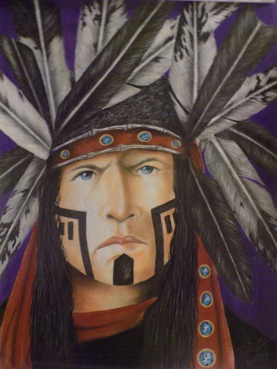 Portrait in Red - McClellan Free Inside Art