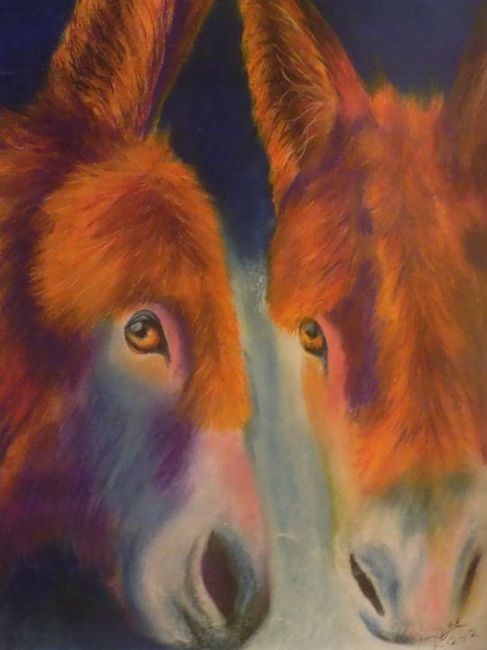 Pair of Donkeys - McClellan Free Inside Art
