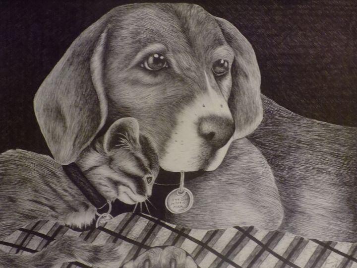 Puppy Love in Pen - McClellan Free Inside Art