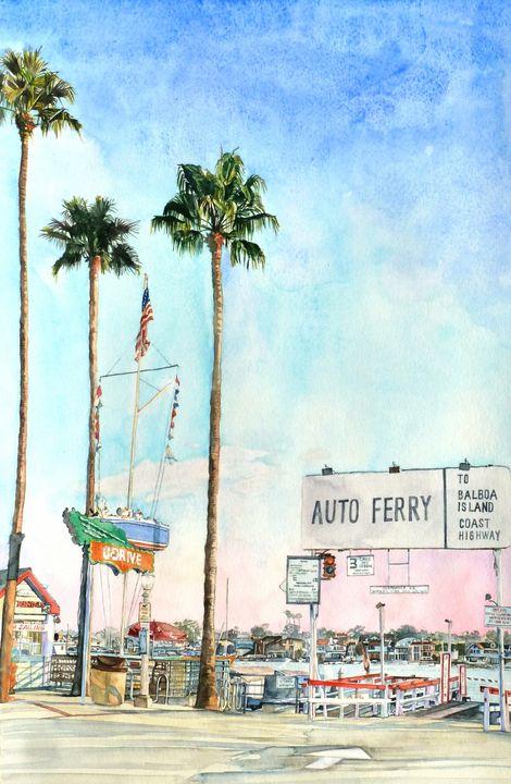 Balboa Auto Ferry - Rachel Ondrak Studio