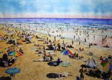 Day at the beach watercolor