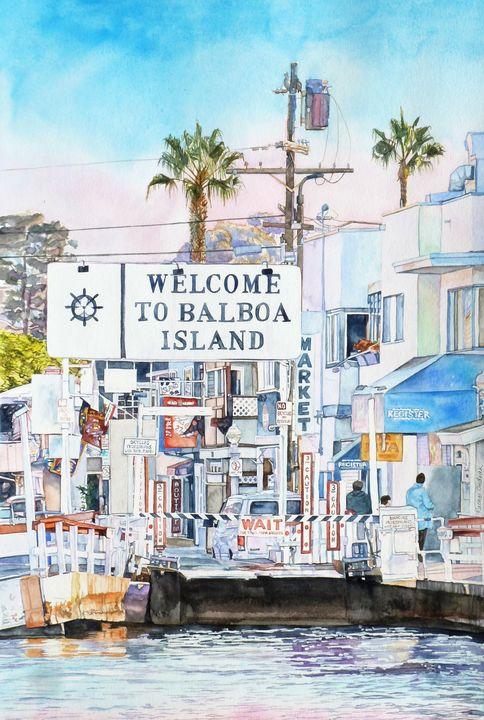 Approaching Balboa Island - Rachel Ondrak Studio