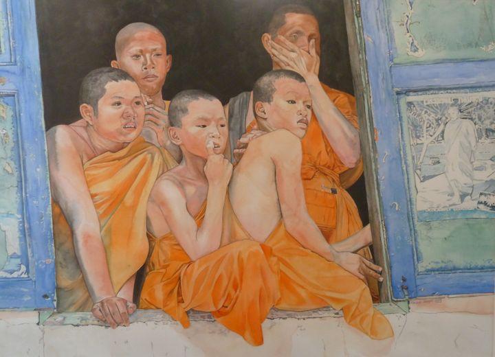 Thai monks - Rachel Ondrak Studio