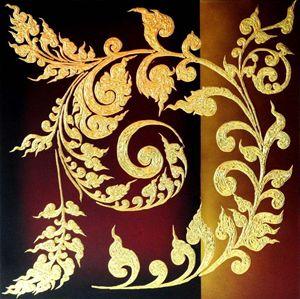 Thai Art Abstract Original Thai Patt