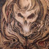 Original acrylic skull painting