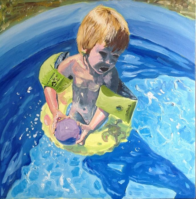 FRANK IN THE POOL - davidschab gallery