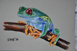 FROG ON THE STICK