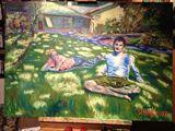 100cm x 70, oil on canvas
