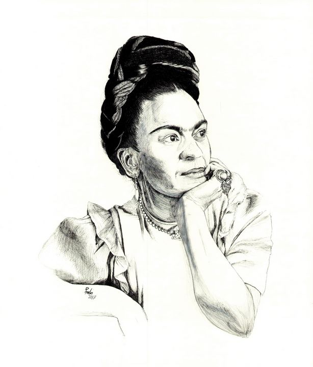 Frida Portrait - Feda's Art