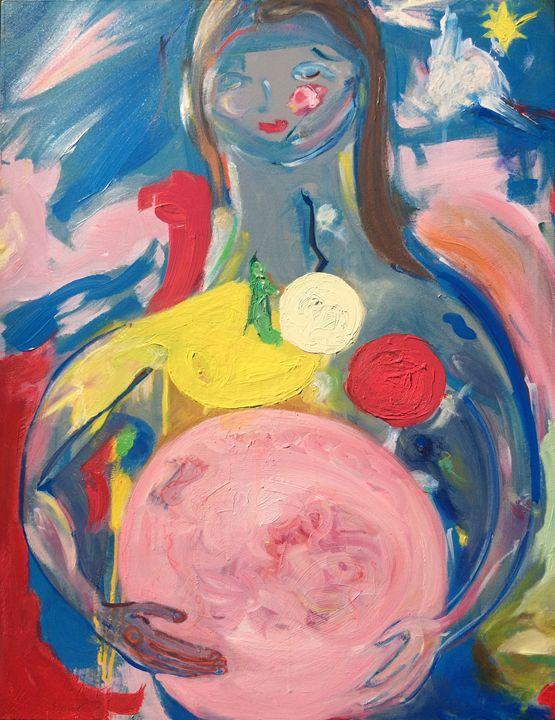 """Naissance (""""Maman m'a Nommé Lévi"""") - Paintings by Lévi"""