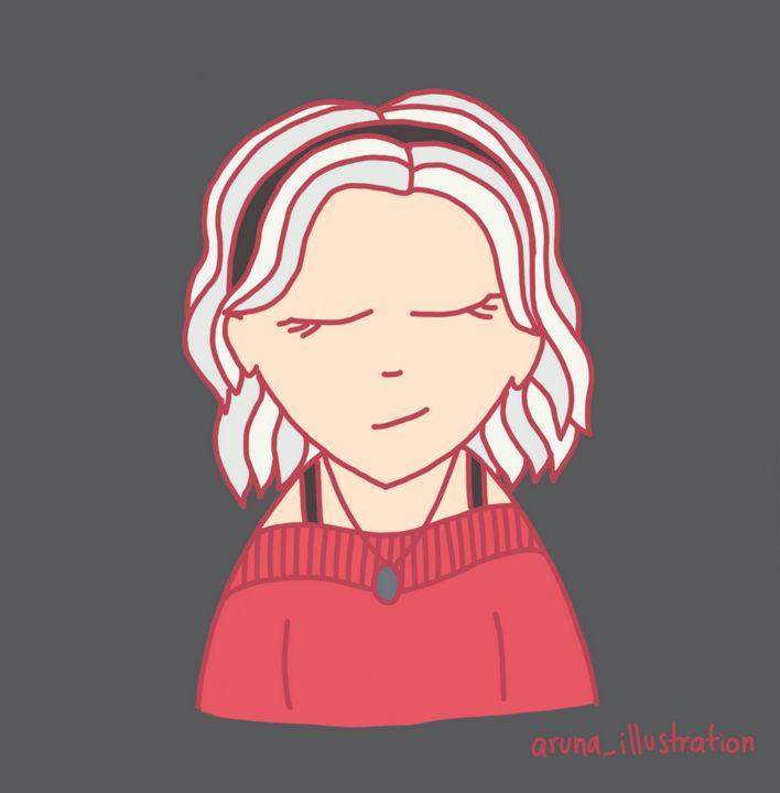 Aruna as Sabrina Spellman - Aruna illustrations