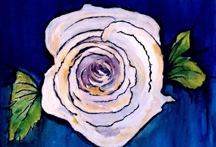 Blue Sky Twilight Rose - Janay Clare Designs