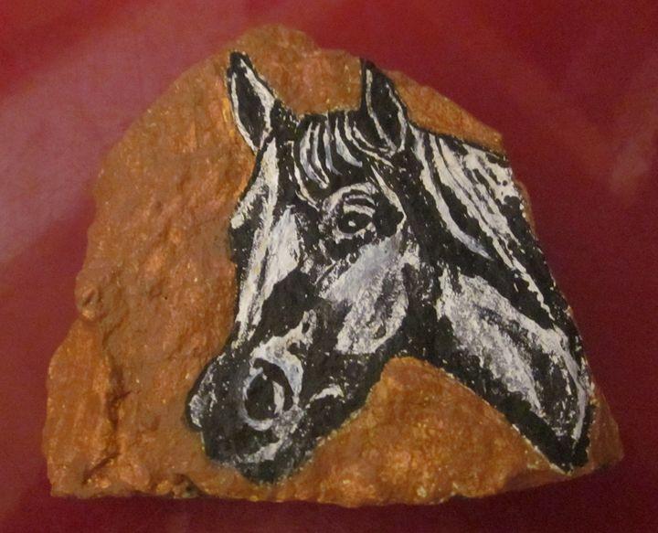 Arabian Horse on Stone - chris cooper's art