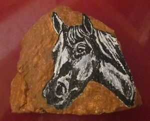 Arabian Horse on Stone