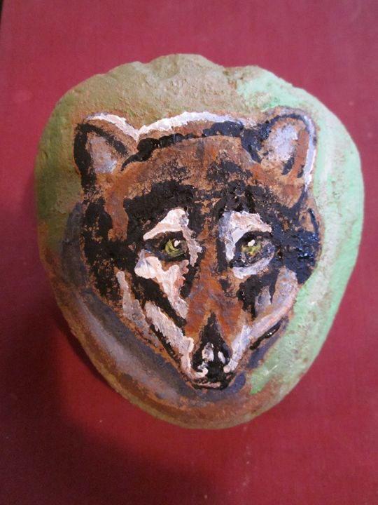 Wolf on Stone - chris cooper's art