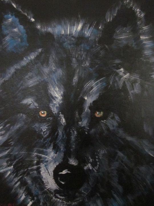Black Wolf - chris cooper's art