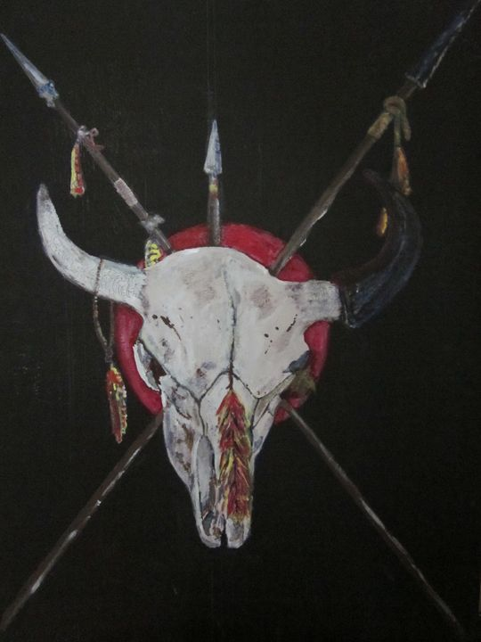 Buffalo Skull / Sioux Totem - chris cooper's art