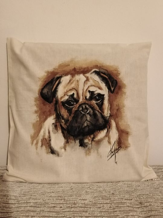 Han painted pillow cover - Cocca Virginia