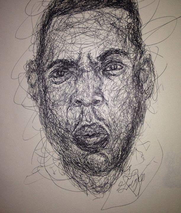 Jay-z scribbled - Lizzie Dunn