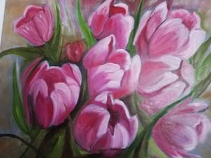 Tulpen in olieverf