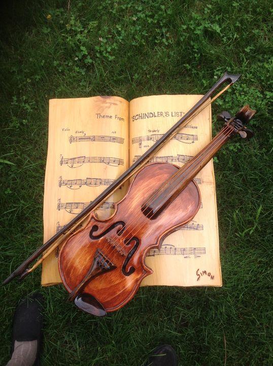 Violin Theme from Schindler's List - simonsculpture