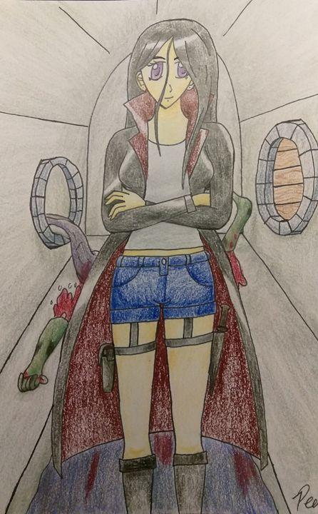 Easy Peasy Zombie Apocalypse Peny Hanson Drawings Illustration