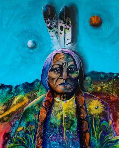 Earth moon and sun - Lance Smith Art