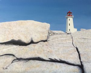 Peggy's Cove - Art by Alan